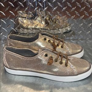 Women's Sperry Top-Sider Gold Foil Sz 10M